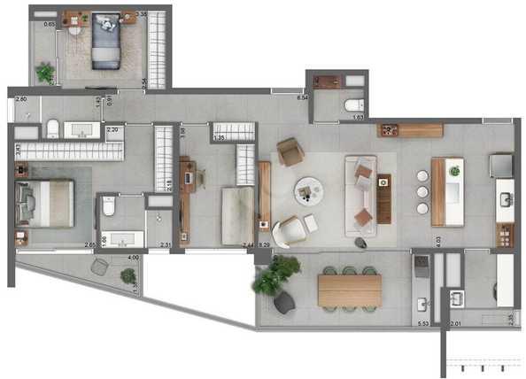 Apartamento 120m²