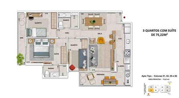Apartamento 75m²