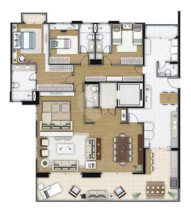 Apartamento 204m²