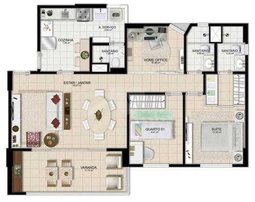Apartamento 84m²