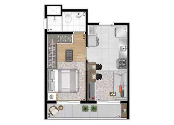 Apartamento 31m²