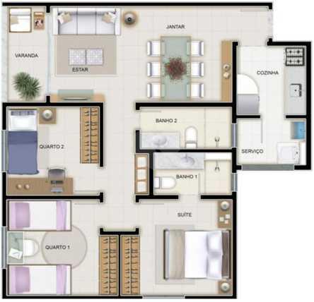 Apartamento 71m²