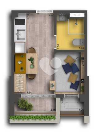 Apartamento 21m²