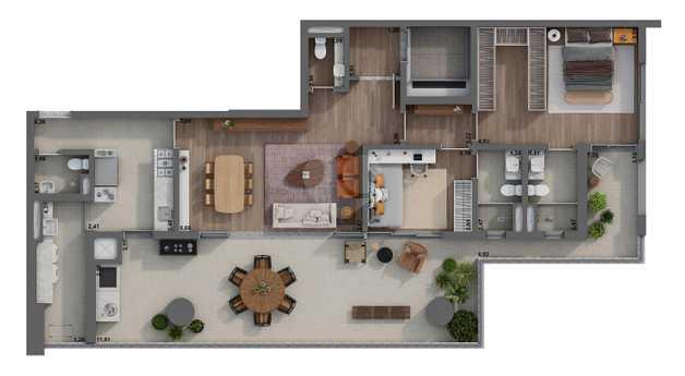 Apartamento 151m²