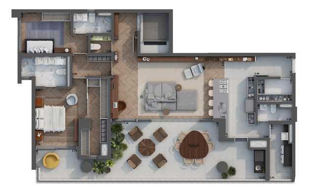 Apartamento 178m²