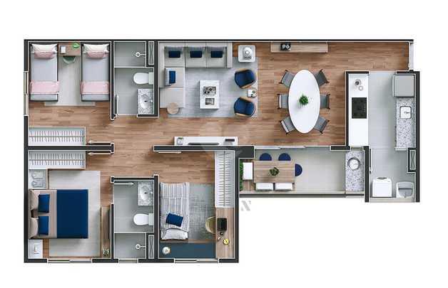 Apartamento 76m²
