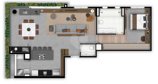 Apartamento 90m²