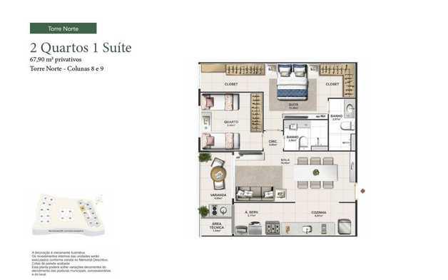 Apartamento 67m²