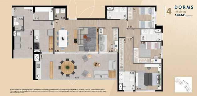 Apartamento 146m²