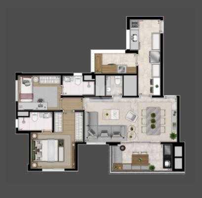 Apartamento 92m²