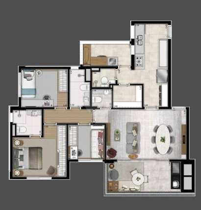 Apartamento 101m²