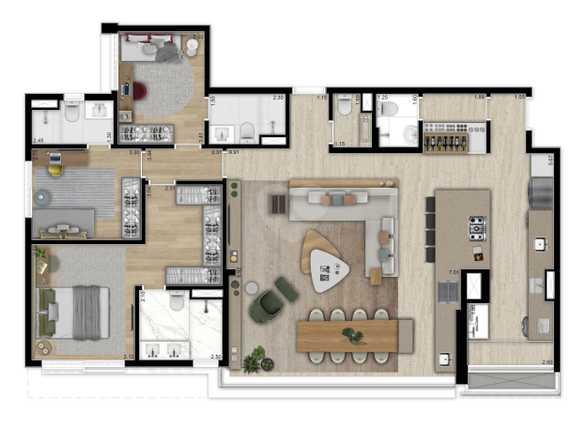 Apartamento 144m²