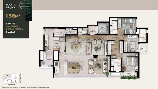 Apartamento 156m²