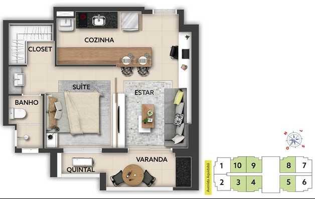 Apartamento 43m²