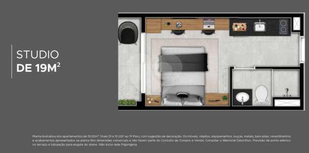 Apartamento 19m²