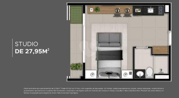 Apartamento 27m²