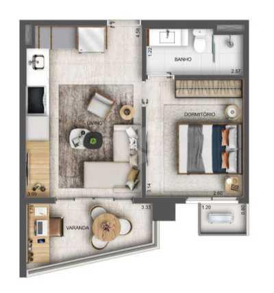 Apartamento 35m²