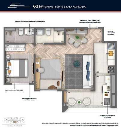 Apartamento 62m²
