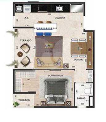 Apartamento 42m²