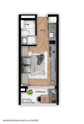 Apartamento 23m²