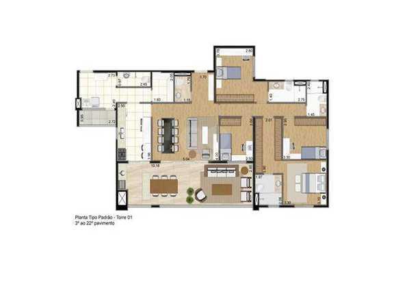 Apartamento 168m²