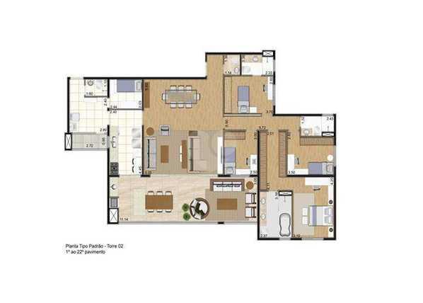 Apartamento 197m²