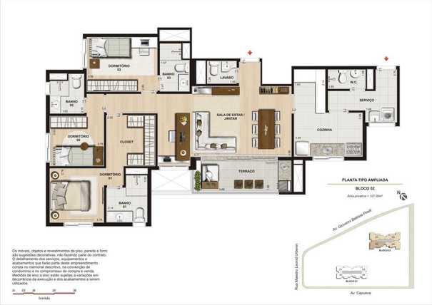 Apartamento 107m²
