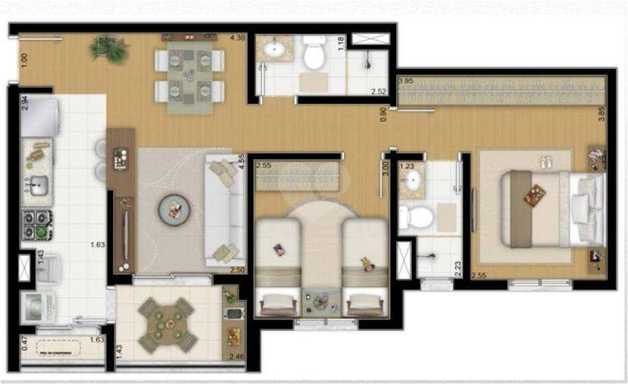 Apartamento 63m²