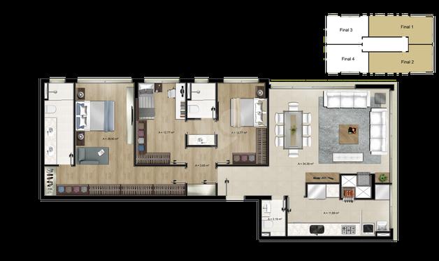 Apartamento 125m²