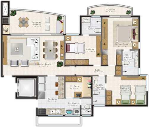 Apartamento 115m²