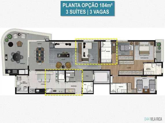 Apartamento 184m²