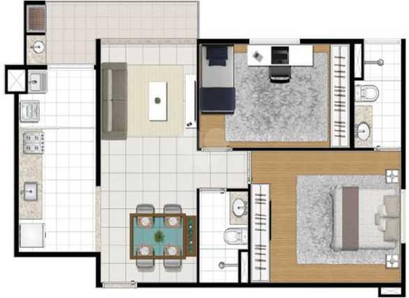 Apartamento 64m²