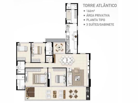 Apartamento 166m²