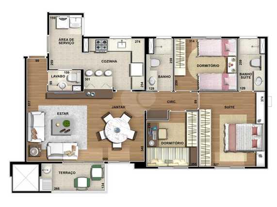 Apartamento 87m²